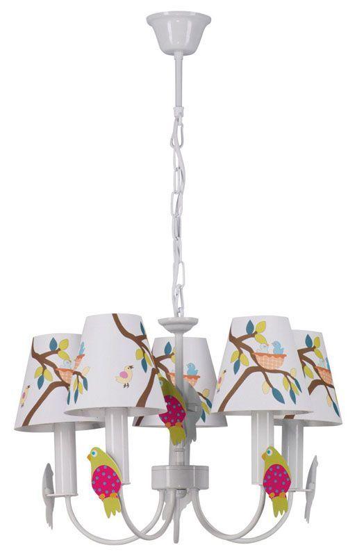 Lustre enfants petits oiseaux 5 éclairages - MW-Light