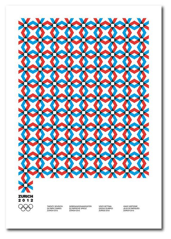 Design graphique   Affiche pour des jeux olympiques fictifs à Zurich - George Strouzas