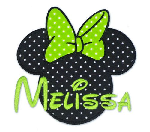Mouse Ears with Bow - Applique/Embroidery 4x4