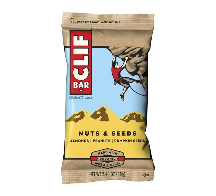 Clif Bar Organic Energy Bar - Nuts and Seeds - Case of 12 - 2.4 oz Bars
