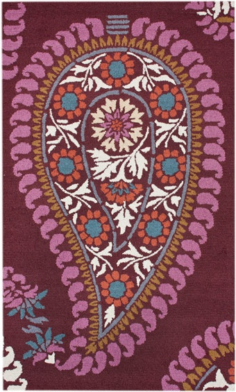 Modernrugs Com Bohemian Fun Paisley Floral Modern Rug