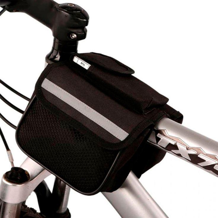 Mochila Bolsa Impermeable Universal De Bicicleta Negro #Soporte #Bolsa #Bicicleta #Paseo #Regalo #México #ciclismo