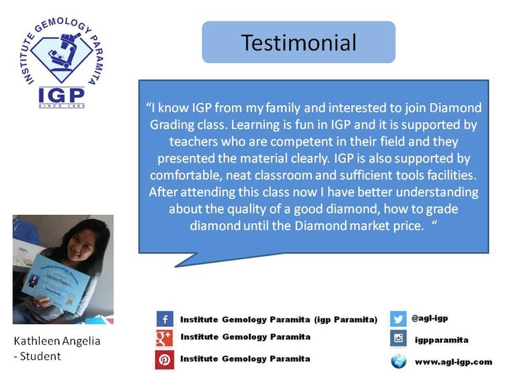 Testimonial from our participant