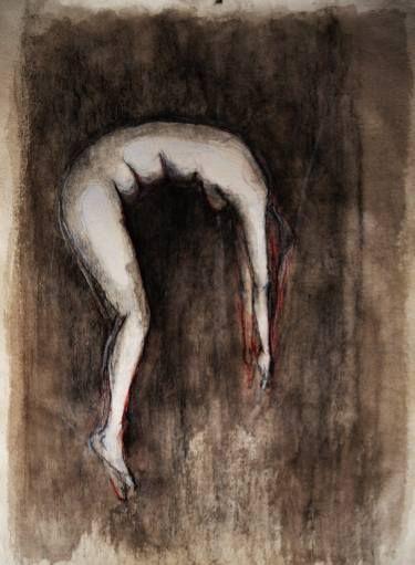 "Saatchi Art Artist maya florence brittain -sakuma; Drawing, ""woman floating"" #art"