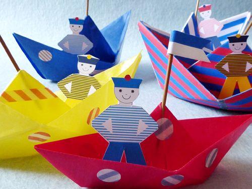 Les bateaux en origami