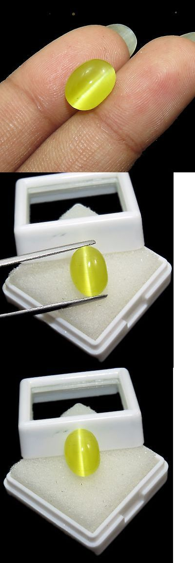 Chrysoberyl 110792: Tremendous 100% Natural 5.10 Ct Oval Shape Certified Honey Color Cats Eye Gems -> BUY IT NOW ONLY: $45.99 on eBay!