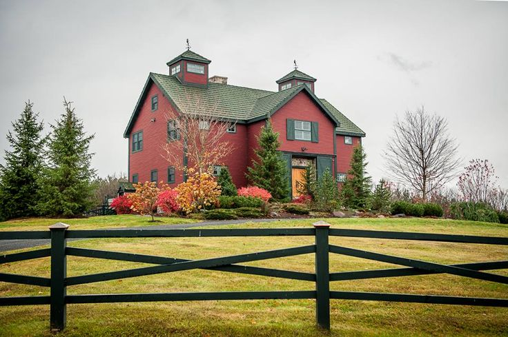 The Somerset post and beam barn home. Love the colors