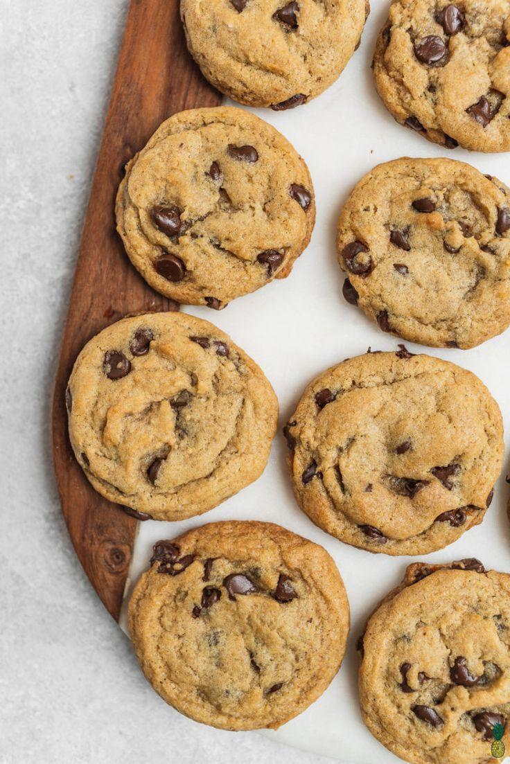 veganska chocolate chip cookies recept