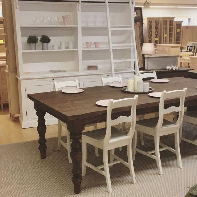 Sorvattujalkainen ruokapöytä, eri kokoja. Maalaa itse tai maalauta meillä.