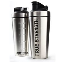 [Outdoor Sports] wholesale shake bottle practical promotional stainless steel protein shaker