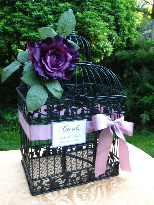 Black Bird Cage Wedding Card Holder I Could Get A Crow To Sit On It For My Halloween