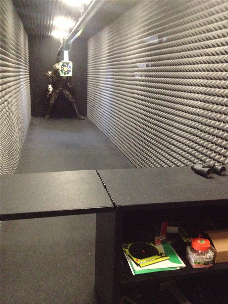 Zombie shooting range in your basement um yes home for Indoor shooting range design uk