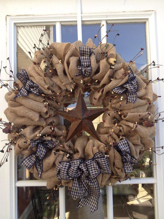 DIY Burlap Wreath ideas for every holiday and season (26)