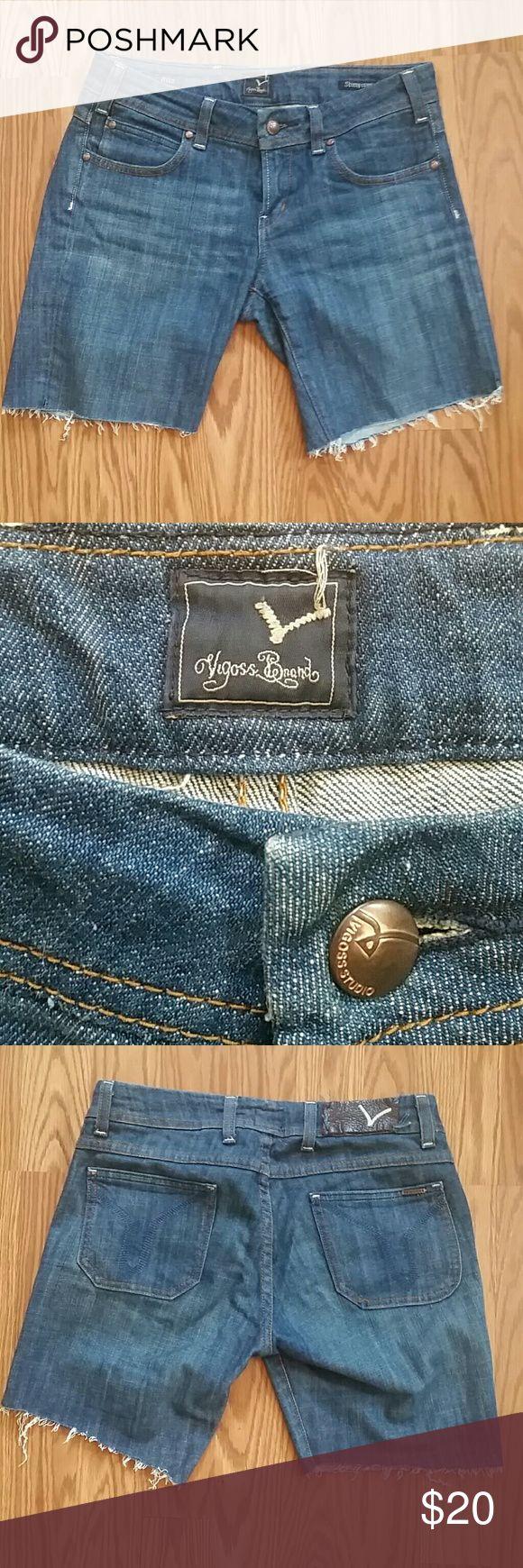 Vigoss Cutoff Jeans Homemade Vigoss Cutoffs, originally Ritz cut Skinny Capris, now ultra cool designer cutoff shorts   Size 29  See photos for leg measurements   Thanks! Vigoss Shorts Jean Shorts