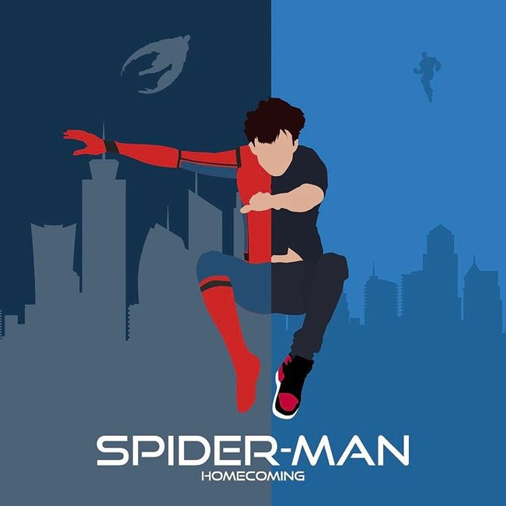 "(@tmhollandgraphics) on Instagram: ""I tried to create a minimal poster of Spider-Man Homecoming and I think the result is pretty legit!"""