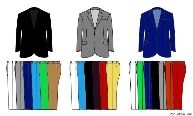Como combinar a cor do blazer com a calça? #PraVestir #Homem   SOS Solteiros