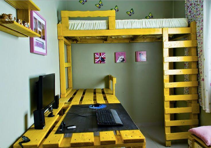 J'adore cette photo de @decofr ! Et vous ? (Source : http://www.deco.fr/photos/diaporama-10-lits-diy-palettes-d_4000)
