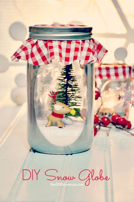 DIY Vintage Snow Globe… Such a cute decoration and adorable gift!  #christmas