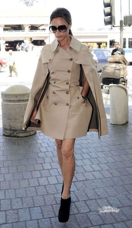 Celebrity Street Style: #VictoriaBeckham  #fashion #FashionOne
