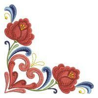 Rosemaling Roses - Ace Points | OregonPatchWorks