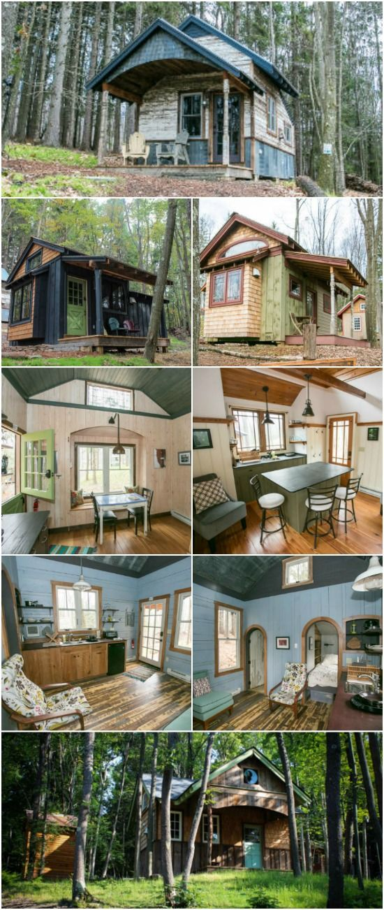 Book Your Favorite Tiny Cabin at Blue Moon Rising in Maryland - Blue Moon Rising Village is a community of tiny house rentals designed and built by Hobbitat builders. Each cabin is unique and charming in its own way with eleven cabins to choose from. They're all 250-300 square feet but they have unique floorplans and design features which set them apart from one another. We've chosen four of our favorites to share with you but all eleven are adorable and we'd be thrilled to stay in them!