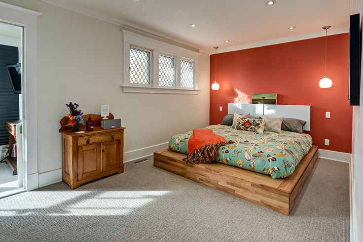 A beautiful and bright master bedroom.