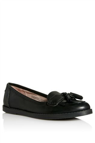 Black Loafers (Older Girls) from Next