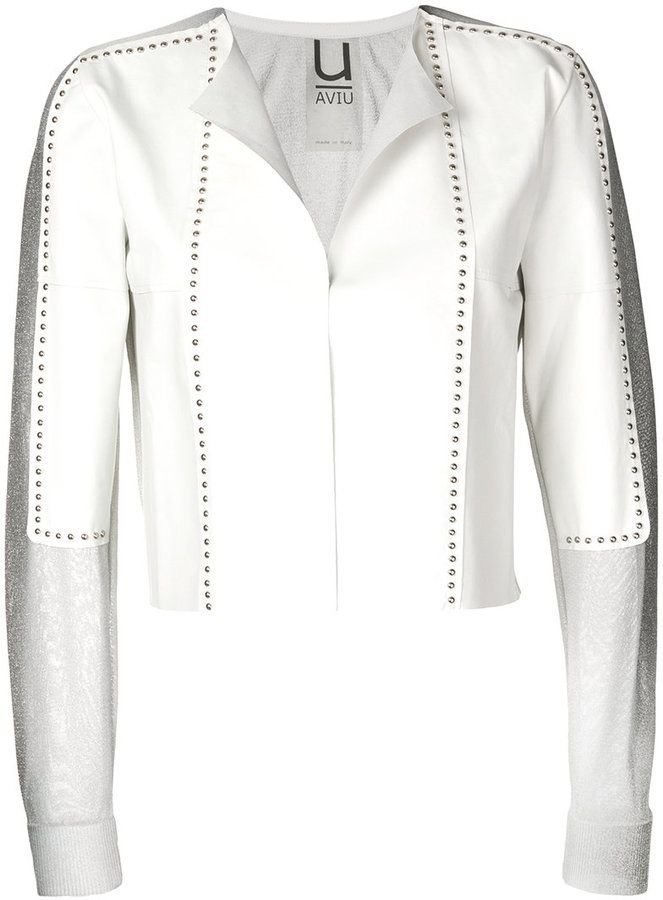Aviu cropped studded jacket