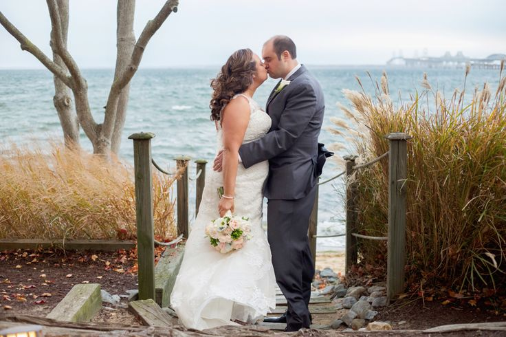 Indoor fall wedding at Chesapeake Bay Beach Club in Stevensville by Maryland wedding photographer Christa Rae Photography