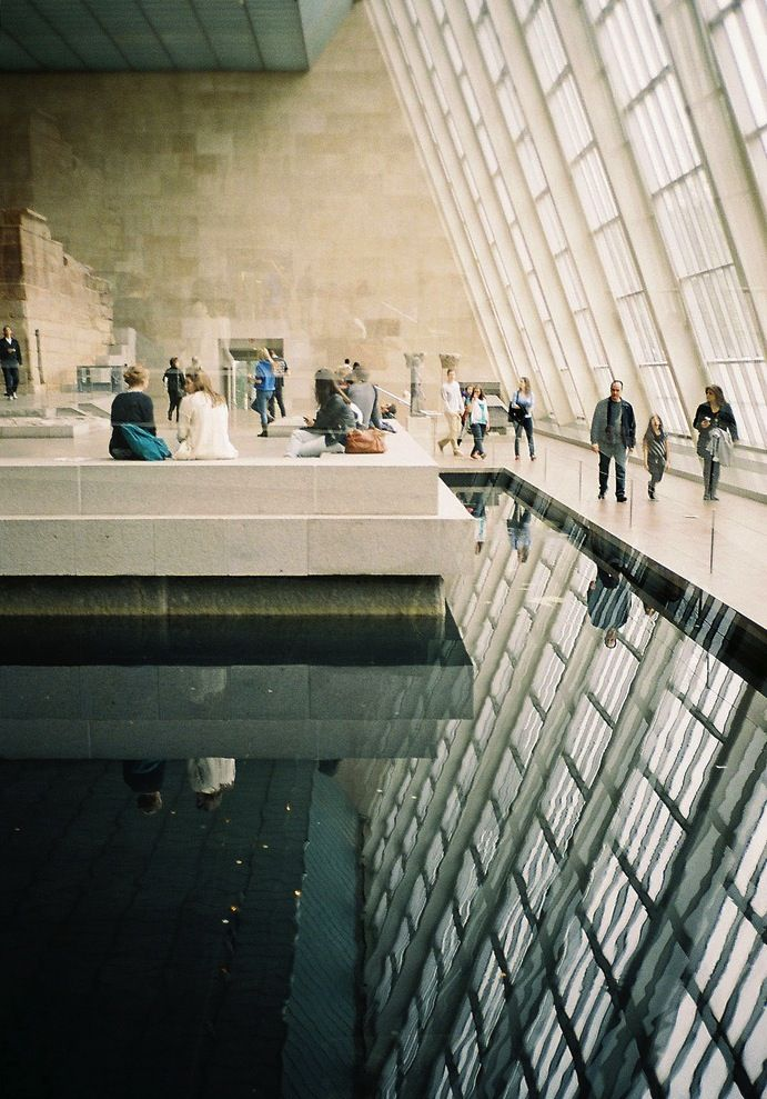 (#5: find a painting that speaks deeply to me - buy the original)    Temple of Dendur - Metropolitan Museum of Art, New York City.