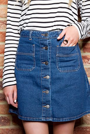 17 best Denim A Line Skirt images on Pinterest