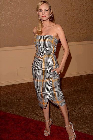 Gone Plaid: Shop 10 Dresses that Check Out: Diane Kruger