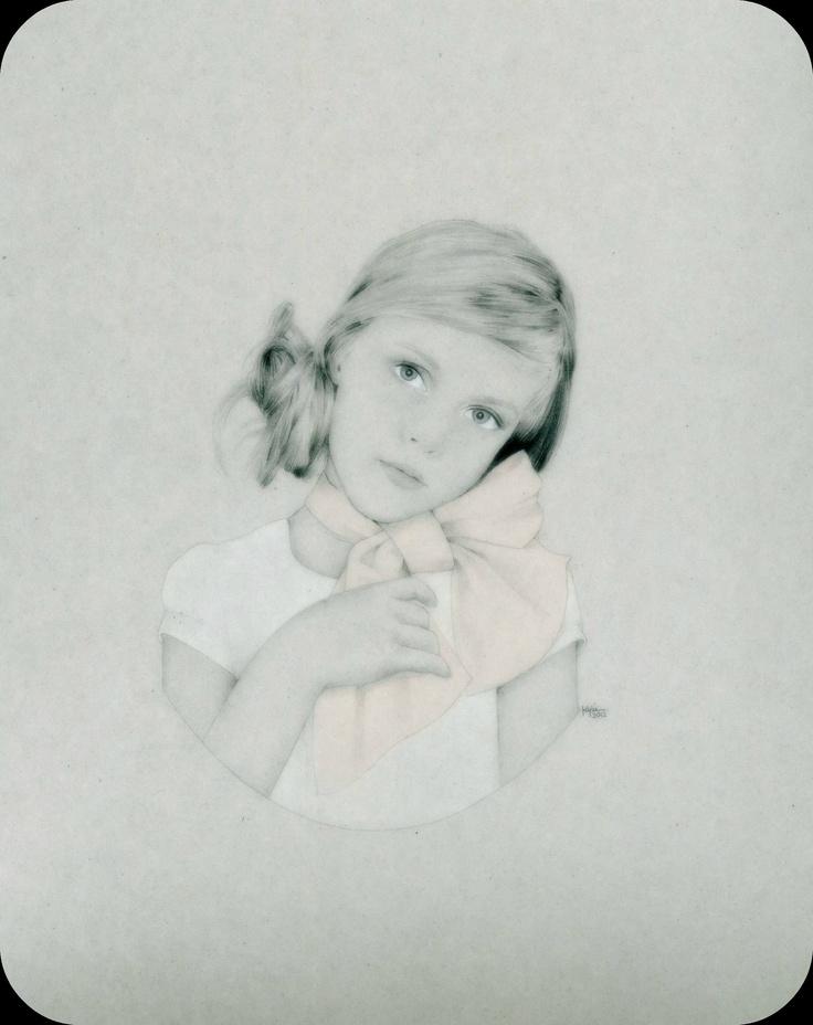 'Living Doll No. 1' - pastel and pencil. www.kyliekinghazel.blogspot.com
