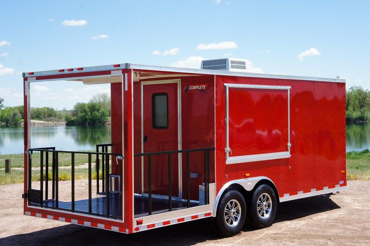 BBQ 8.5 X 25 Smoker Trailer w/ Porch trailer for sale at Complete Trailers. We'll help you build the custom trailer that fits your hauling needs.