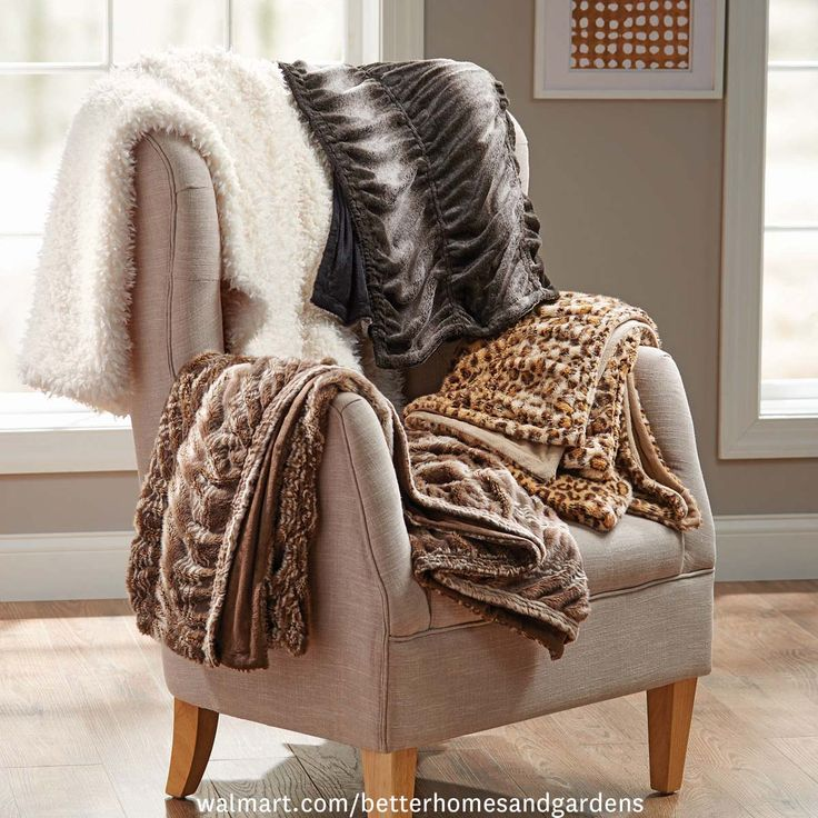 Better Homes And Gardens 50 X 60 Faux Fur Throw