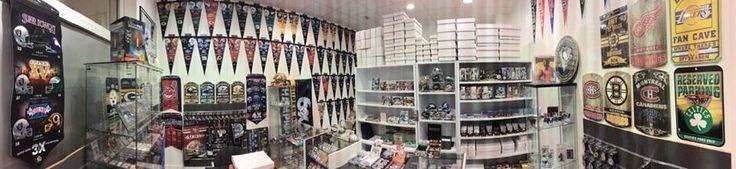 photo de la boutique usc-shop magasin spécialisé dans les cartes de collection sur les sports americain et produits dérivés sous licence officielle