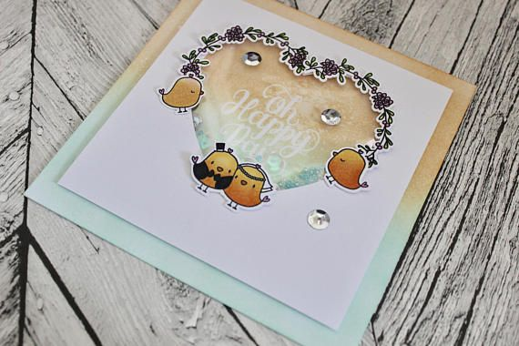 Beautiful Birdy Love Card Perfect For Weddings Or Anniversary Celebrations Love Always Wins Greetings Card  The card is roughly 15 x 15cm and comes with a co-ordinating envelope. Greetings cards can be made to order by your specifications, just message me if you are looking for something personalised. I absolutely love making cards and love that they can be made so personal. So many people now keep cards and frame or scrapbook them to remember and preserve a beautiful detail from a happy…