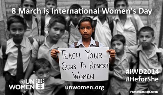3/8 is Int'l Women's Day! Follow hashtag #IWD2014 and get stories,updates & photos