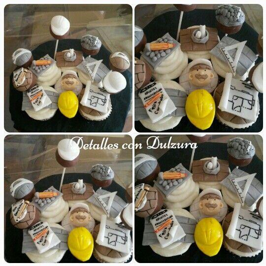 Cupcakes y popcakes motivo  arquitectura