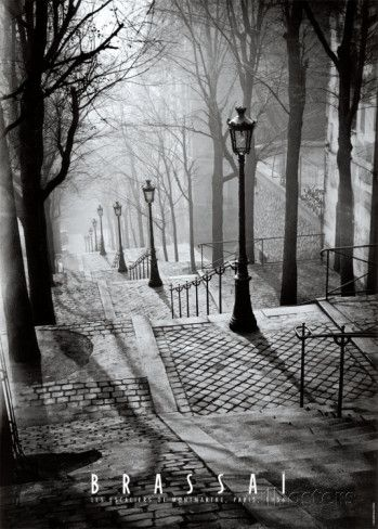 Les Escaliers de Montmartre, Paris Print by Brassaï at AllPosters.com