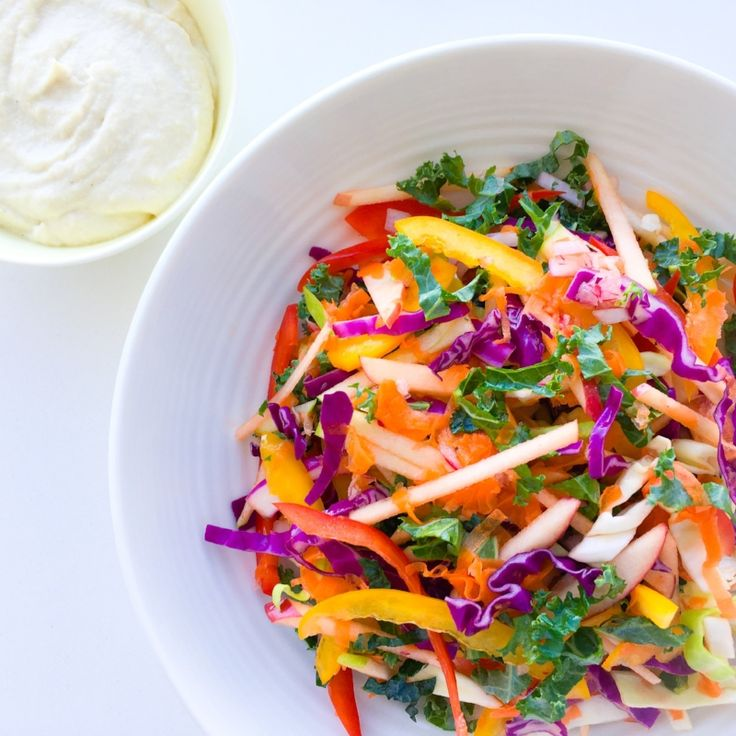 One of the best things you can do for your health is to eat a rainbow of coloured vegetables each day. This divine Rainbow Slaw is an delicious way to do just that