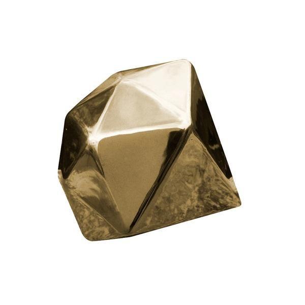 Descripción Shine es una pieza de decoración en forma de diamante fabricada en cerámica de alta calidad con acabado metálico liso color oro. Limpiar con un trap