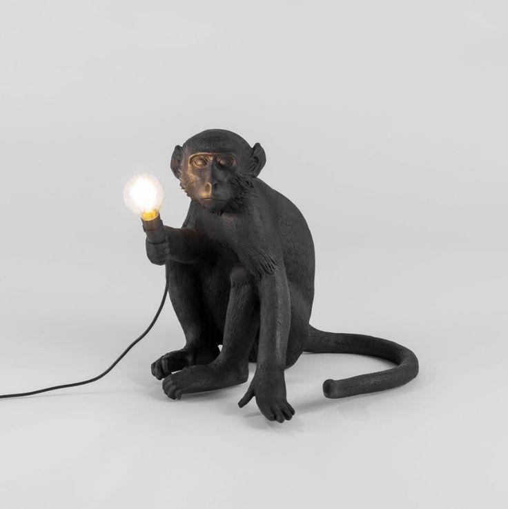 MONKEY LAMP BLACK Table lamp Monkey lamp black Collection by Seletti design Marcantonio Raimondi Malerba
