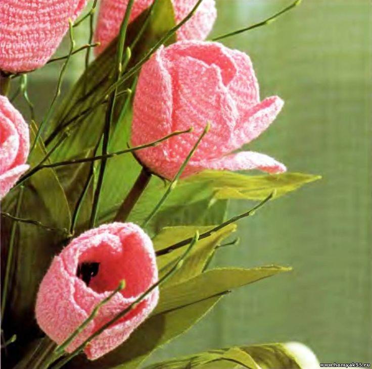 Букет из тюльпанов крючком