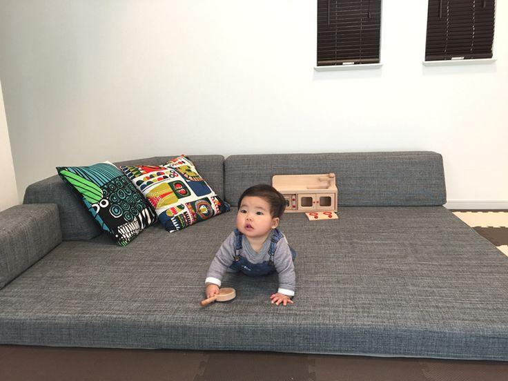 お客様のソファのある暮らし-大阪府 M様 フロフロ |ローソファ専門店 HAREM<