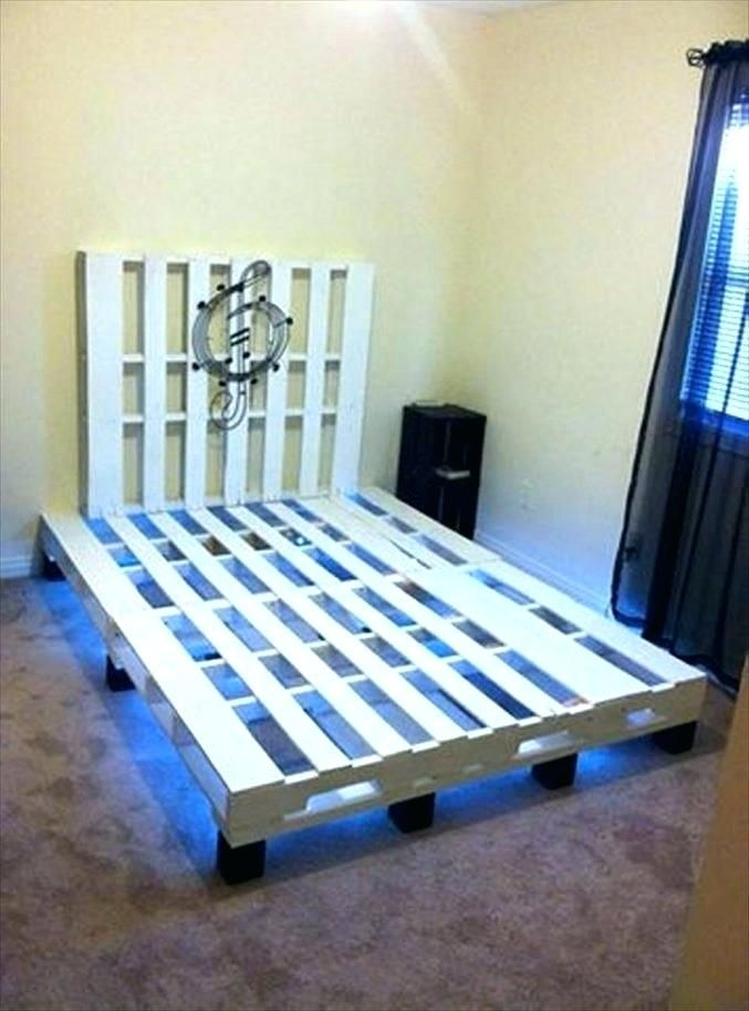Pallet Bed Frame Instructions Medium Size Of For Nice Diy King Ins