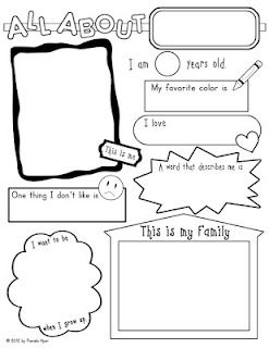 All About Me Poster  FREEBIEPam Hyeres, Classroom, Teaching Ideas, Posters Freebies, All About Me Posters, Education, Preschool Scrapbook Ideas, Schools Years, Kindergarten Posters