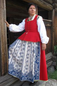 dress from Toarp, Västergötland province, Sweden