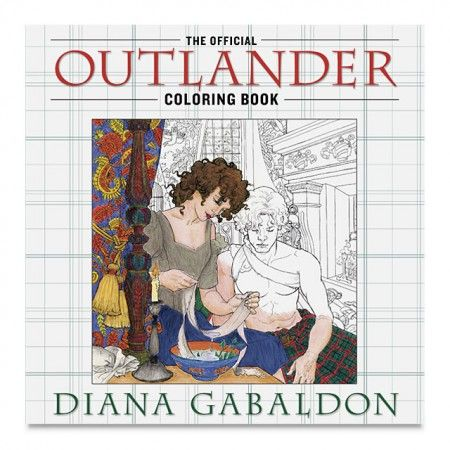 The Outlander Coloring Book is a spectacular adult coloring book that features forty-five illustrations and is the perfect gift for fans of Diana Gabaldon's Outlander novels and the Starz original series. #AdultColoringBooks #ArtBooks