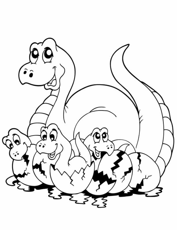 Dinosaur Coloring Pages - From the sweet looking Triceratops to the big bad Tyrannosaurus Rex, your little one won't be able to get enough of these fun dinosaurs.